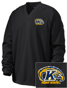 Kent State University Golden Flashes Embroidered Men's V-Neck Raglan Wind Shirt