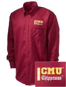 Central Michigan University Chippewas  Embroidered Men's Nailhead Non-Iron Button-Down