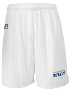 "Hope International University Royals  Russell Men's Mesh Shorts, 7"" Inseam"