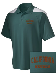 California National Historic Trail Embroidered Holloway Men's Frequency Performance Pique Polo