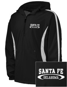 Santa Fe National Historic Trail Embroidered Men's Colorblock Raglan Anorak