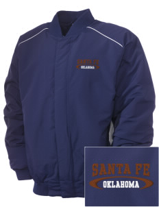 Santa Fe National Historic Trail Embroidered Russell Men's Baseball Jacket