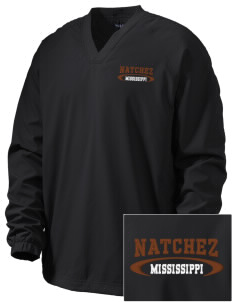 Natchez National Historical Park Embroidered Men's V-Neck Raglan Wind Shirt