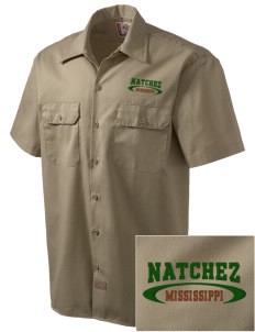 Natchez National Historical Park Embroidered Dickies Men's Short-Sleeve Workshirt