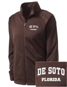 De Soto National Memorial Embroidered Women's Tricot Track Jacket