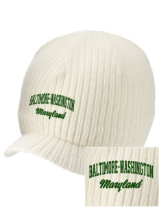 Baltimore-Washington Parkway Embroidered Knit Beanie with Visor