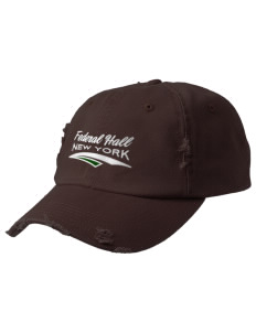 Federal Hall National Memorial Embroidered Distressed Cap