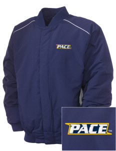 Pace University Setters Embroidered Russell Men's Baseball Jacket