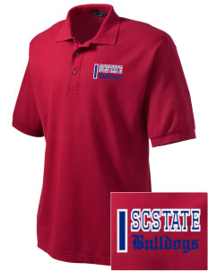 South Carolina State University Bulldogs Embroidered Men's Silk Touch Polo