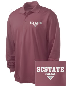 South Carolina State University Bulldogs Embroidered Men's Long Sleeve Micropique Sport-Wick Sport Shirt