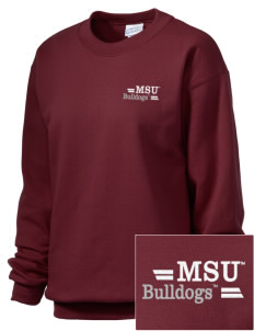 Mississippi State University Bulldogs Embroidered Unisex Crewneck Sweatshirt