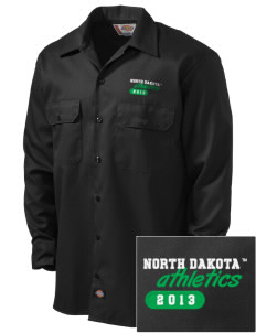 University of North Dakota Athletics Embroidered Dickies Men's Long-Sleeve Workshirt
