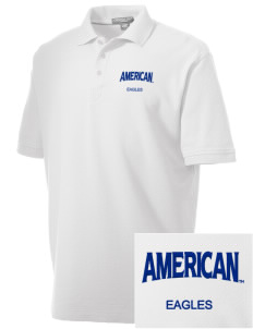 American University Eagles Embroidered Men's Performance Plus Pique Polo
