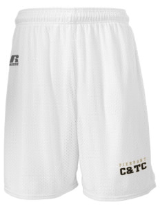 "Pierpont Community & Technical College C&TC  Russell Men's Mesh Shorts, 7"" Inseam"