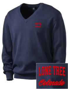 Lone Tree Embroidered Men's V-Neck Sweater