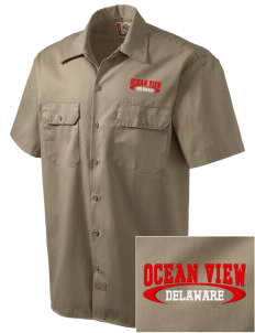 Ocean View Embroidered Dickies Men's Short-Sleeve Workshirt