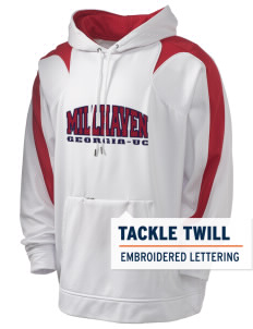 Millhaven Holloway Men's Sports Fleece Hooded Sweatshirt with Tackle Twill