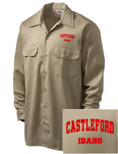 Castleford Embroidered Dickies Men's Long-Sleeve Workshirt
