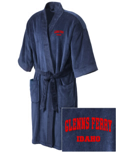 Glenns Ferry Embroidered Terry Velour Robe