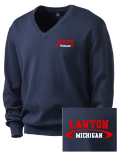 Lawton Embroidered Men's V-Neck Sweater
