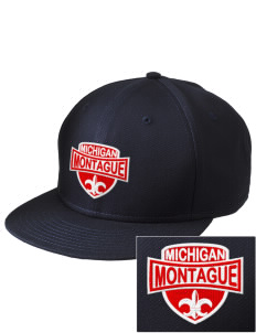 Montague  Embroidered New Era Flat Bill Snapback Cap