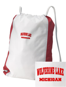 Wolverine Lake Embroidered Holloway Home and Away Cinch Bag