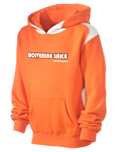 Wolverine Lake Kid's Pullover Hooded Sweatshirt with Contrast Color