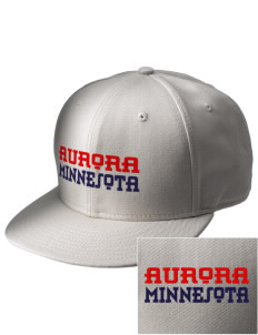 Aurora  Embroidered New Era Flat Bill Snapback Cap