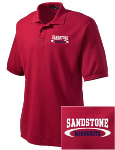 Sandstone Embroidered Men's Silk Touch Polo