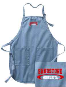 Sandstone Embroidered Full-Length Apron with Pockets
