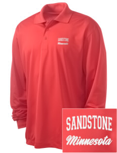 Sandstone Embroidered Men's Long Sleeve Micropique Sport-Wick Sport Shirt