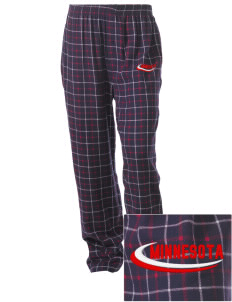Vineland Embroidered Unisex Button-Fly Collegiate Flannel Pant