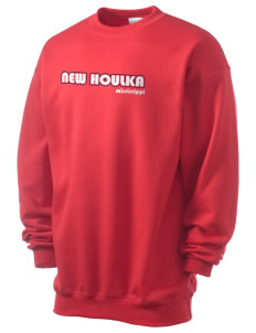 New Houlka Men's 7.8 oz Lightweight Crewneck Sweatshirt