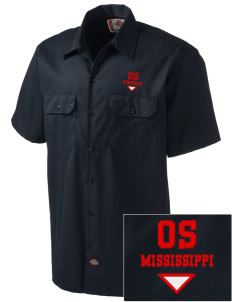 Ocean Springs Embroidered Dickies Men's Short-Sleeve Workshirt