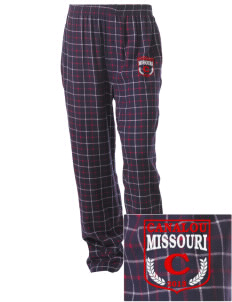 Canalou Embroidered Unisex Button-Fly Collegiate Flannel Pant