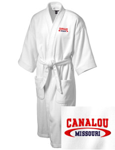 Canalou Embroidered Terry Velour Robe