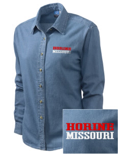 Horine Embroidered Women's Long-Sleeve Denim Shirt