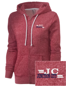 Junction City Embroidered Women's Marled Full-Zip Hooded Sweatshirt