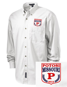 Potosi Embroidered Tall Men's Twill Shirt