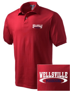 Wellsville Embroidered Men's Jersey Polo