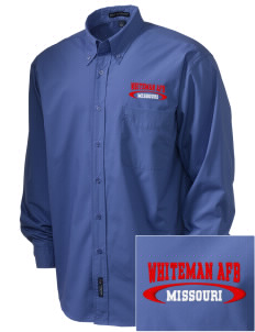 Whiteman AFB  Embroidered Men's Easy Care, Soil Resistant Shirt