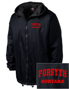 Forsyth Embroidered Dickies Men's Fleece-Lined Hooded Jacket
