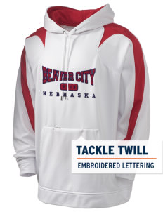 Beaver City Holloway Men's Sports Fleece Hooded Sweatshirt with Tackle Twill