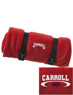Carroll Embroidered Fleece Blanket with Strap