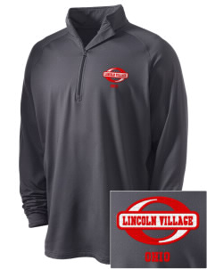 Lincoln Village Embroidered Men's Stretched Half Zip Pullover