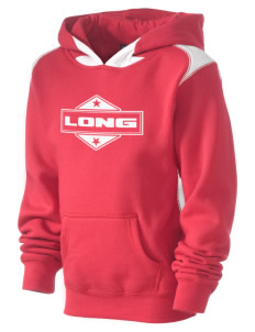 Long Kid's Pullover Hooded Sweatshirt with Contrast Color