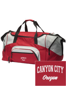 Canyon City Embroidered Colorblock Duffel Bag