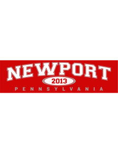 "Newport Bumper Sticker 11"" x 3"""