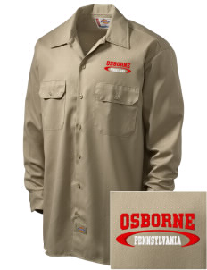 Osborne Embroidered Dickies Men's Long-Sleeve Workshirt