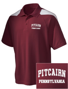 Pitcairn Embroidered Holloway Men's Frequency Performance Pique Polo